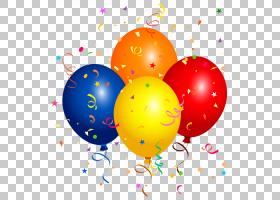 气球五彩纸屑派对,五彩纸屑PNG剪贴画气球,电脑壁纸,复活节彩蛋,