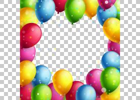 气球框架,透明气球框架,什锦,彩色气球PNG剪贴画边框架,复活节彩