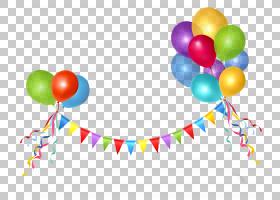 气球生日聚会例证,气球节日元素PNG clipart功能区,文本,贺卡,免