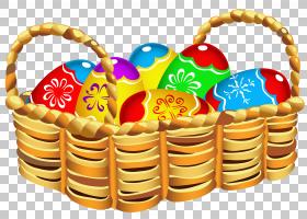 复活节兔子复活节篮子复活节彩蛋,复活节篮子图片PNG剪贴画食品,