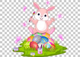 复活节兔子复活节彩蛋复活节篮子,复活节快乐2018年PNG剪贴画假期