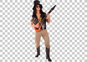 Slash 1980s服装派对Guns NRoses,削减PNG剪贴画杂项,万圣节服装,