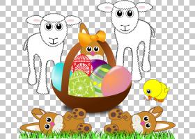 复活节兔子复活节彩蛋复活节篮子,羊羔PNG剪贴画儿童,食品,假期,