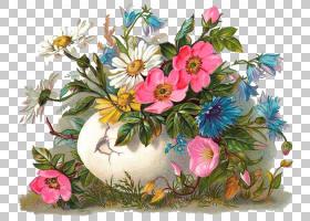 复活节明信片复活节彩蛋耶稣复活节兔子复活,花卉蛋PNG剪贴画插花