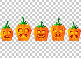 南瓜万圣节杰克-o-灯笼,南瓜PNG剪贴画食品,橙色,电脑壁纸,恐怖,