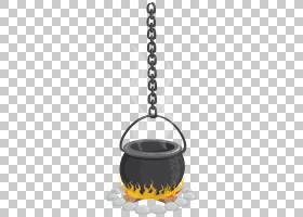 大锅万圣节,悬挂巫婆大锅透明,黑色烹饪锅插图PNG剪贴画万圣节快