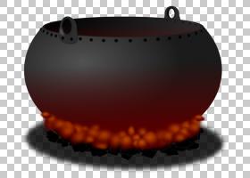 大锅巫术,万圣节巫婆大锅,黑锅插图PNG剪贴画万圣节快乐,橙色,产