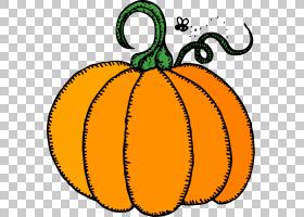 南瓜含量西葫芦,万圣节工艺品的PNG剪贴画食品,橙色,水果,南瓜,冬