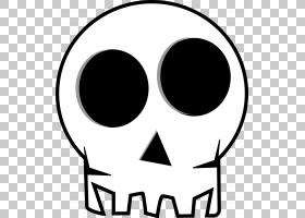 头骨万圣节骨架,头骨的PNG剪贴画脸,文本,单色,头,方,人体,面具,