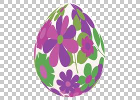 复活节兔子花,复活节背景的PNG剪贴画紫色,紫罗兰色,复活节彩蛋,