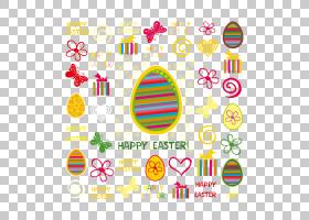 复活节彩蛋,与丝带PNG clipart的复活节彩蛋文本,矩形,节日元素,