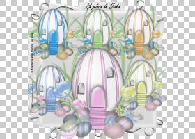 复活节彩蛋,复活节元素PNG剪贴画紫色,复活节彩蛋,花卉,复活节,复