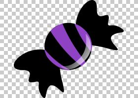Bonbon糖果万圣节,糖果PNG剪贴画紫色,食品,叶子,紫色,花,剪影,品