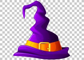 万圣节女巫帽子,女巫,紫色巫婆帽子PNG剪贴画紫色,节假日,帽子,紫
