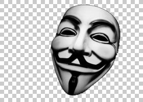 Guy Fawkes面具V为Vendetta Anonymous,Suspense恐怖面具PNG剪贴