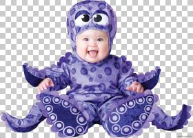 万圣节服装婴儿服装派对蹒跚学步,婴儿鲨鱼PNG剪贴画紫色,蓝色,儿