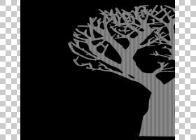 万圣节杰克-o-灯笼捣蛋,透明树的PNG剪贴画叶,文本,分支机构,单色