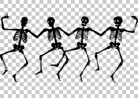 Skeleton免费内容,万圣节骷髅透明PNG剪贴画假期,单色,人类,卡通,