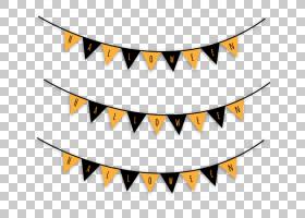 万圣节派对,万圣节旗布PNG剪贴画角度,万圣节快乐,假期,万圣节服