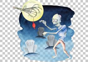 万圣节派对插图,万圣节元素PNG剪贴画节日元素,微软Azure,卡通,设