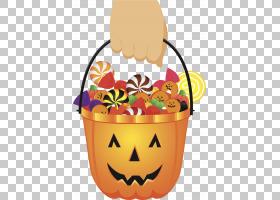 万圣节糖果派对PNG剪贴画食品,橙色,复活节彩蛋,卡通,剪贴画,南瓜