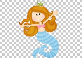 美人鱼纸卡通,海下PNG剪贴画传奇生物,贴纸,虚构人物,婴儿玩具,免图片