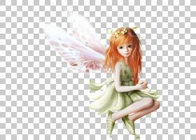 Pixie Hollow迪士尼精灵童话,黄色头发精灵,橙色头发的童话插图PN