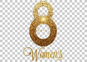 透明导电膜3月8日层,3月8日金透明,3月8日妇女节插图PNG剪贴画文
