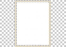 纸万圣节圆点,点边框的PNG剪贴画边框,文本,矩形,对称性,波尔卡,
