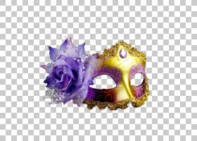 面具狂欢节化妆舞会服装派对,面具PNG剪贴画紫色,紫罗兰色,万圣节