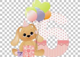 生日蛋糕复活节兔子,生日PNG剪贴画祝愿,假期,祝你生日快乐,蜡烛,