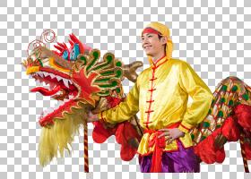 服装传统龙舞中国龙春节,中国新年龙PNG剪贴画假期,龙,万圣节服装