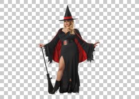 服装派对服装尺码连帽衫,猩红色女巫PNG剪贴画假期,帽子,万圣节服
