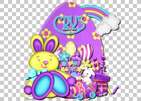 复活节兔子复活节彩蛋,复活节PNG剪贴画紫色,食品,假期,复活节彩