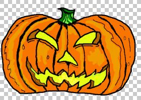 杰克-o-灯笼万圣节南瓜,万圣节派对PNG剪贴画灯笼,食品,脸,橙色,