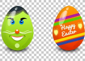 复活节兔子复活节彩蛋,复活节元素PNG剪贴画食品,假期,复活节彩蛋