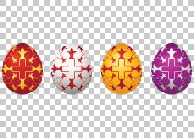复活节兔子复活节彩蛋,复活节彩蛋设置PNG剪贴画复活的耶稣,兔子,