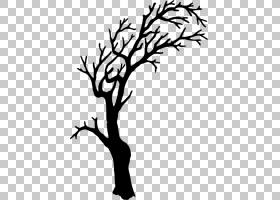 树,万圣节树照片PNG剪贴画白,叶,假期,文本,手,分支机构,单色,植