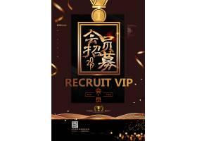 黑金高端大气VIP会员招募海报