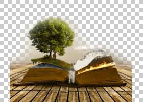DeviantArt指环王数字艺术幻想,自然风光创意书籍,用弹出树PNG剪
