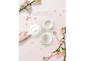 清新简洁时尚茶元素茶文化下午茶主题海报设计