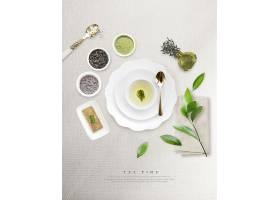 清新简洁时尚绿茶主题海报设计