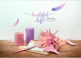 清新美好生活主题海报模板设计