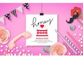 创意个性花卉主题海报模板设计