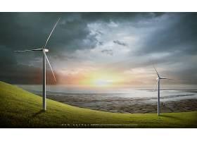 风能主题新能源海报模板设计