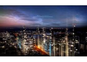 电能城市主题新能源海报模板设计