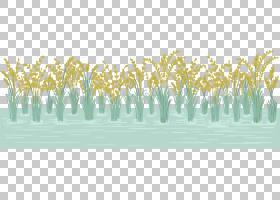 稻田PNG剪贴画风景,水稻,草,稻稻田,封装的PostScript,大米,田野,