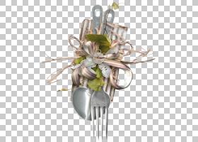 叉花艺设计,勺叉PNG剪贴画插花,餐厅,花卉,封装的PostScript,金属