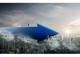 虚拟现实空间房地产通用背景展板海报