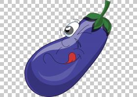 茄子蔬菜,茄子反派PNG剪贴画紫色,蓝色,人民,阿尔科姆,3d小人,恶